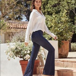 Free People's Penny Pull-On Flare Jeans